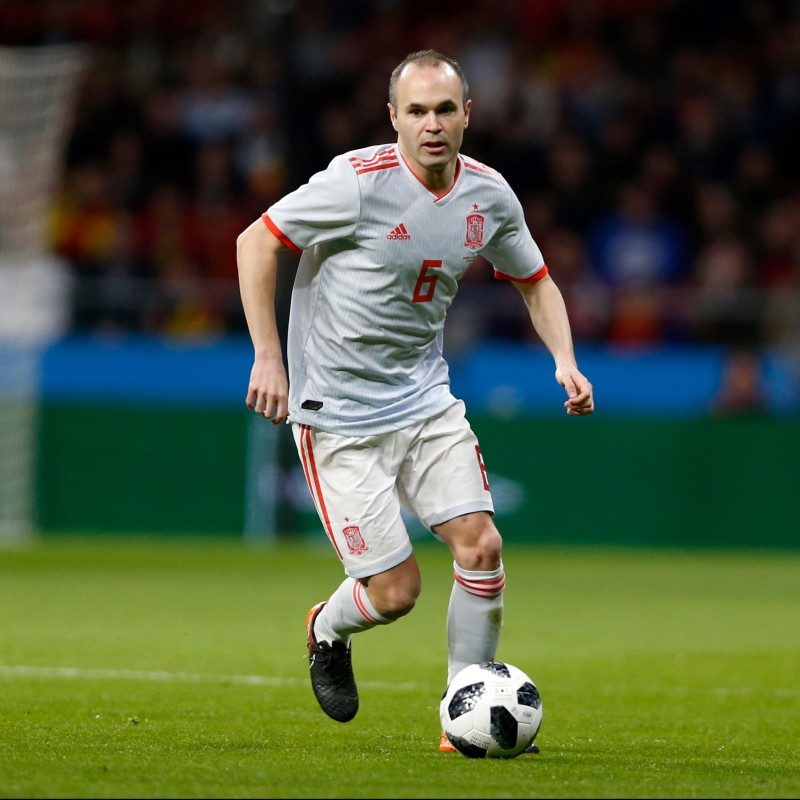 Iniesta's Match Shirt, Spain-Argentina 2018
