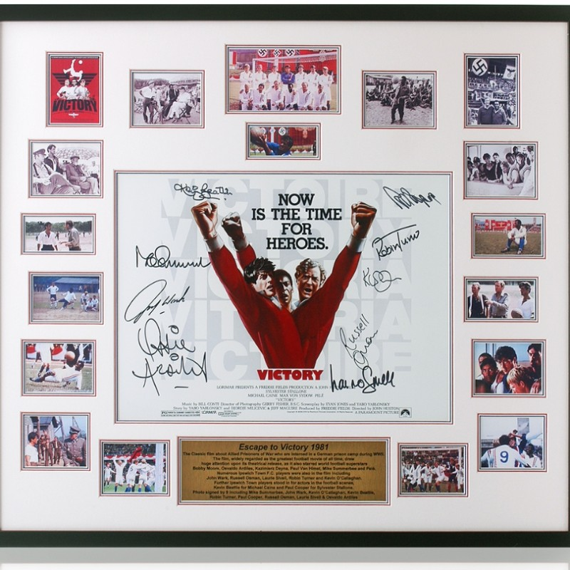 'Escape To Victory' Movie Poster Print Signed by 9