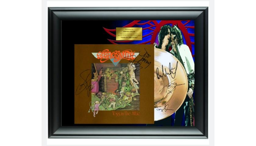 "Aerosmith ""Toys in The Attic"" Gold Record Display"