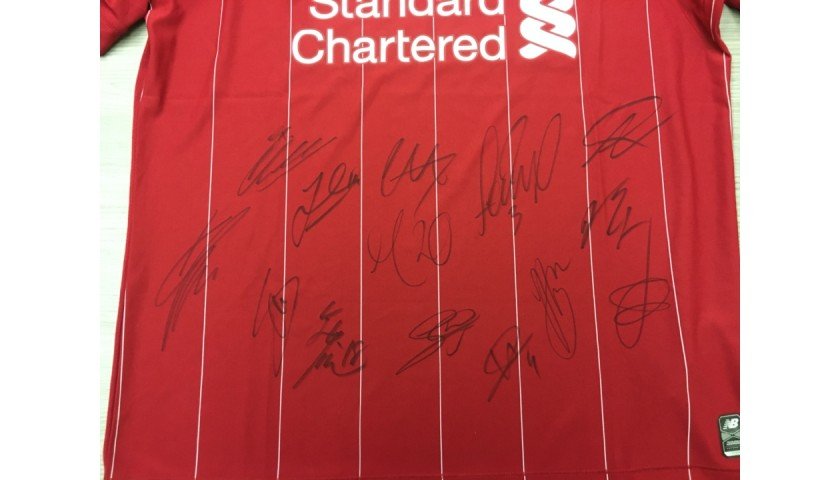 Liverpool Official 2019/20 Team Signed Shirt