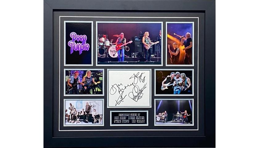 Deep Purple Signed Display