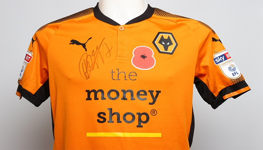 Poppy Shirt Signed by Wolverhampton Wanderers FC s Hélder Costa ... 1d43ce8fb