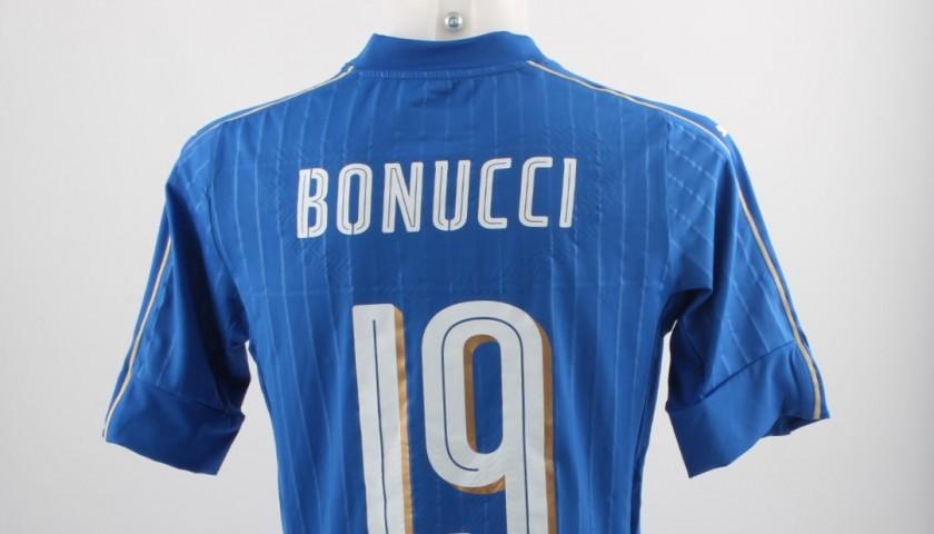 d34014fb5 Maglia Bonucci, indossata Belgio-Italia amichevole 13/11/15 ...