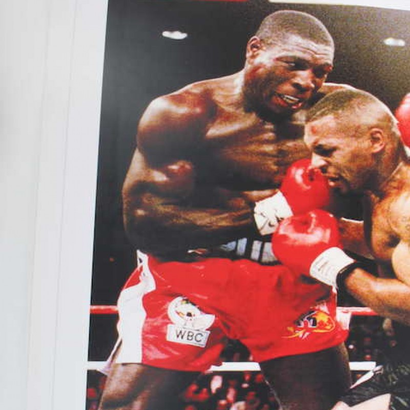 Iconic Print Autographed by Mike Tyson and Frank Bruno