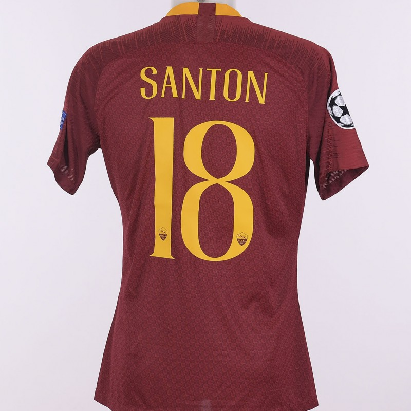 Santon's Match-Issue Shirt, Roma-Real Madrid CL 18/19