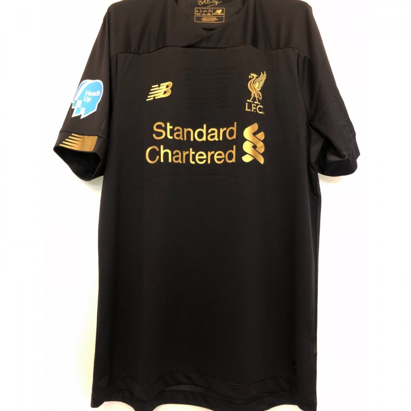 Alisson's Match Shirt, Norwich-Liverpool 2020 - Special Heads Up