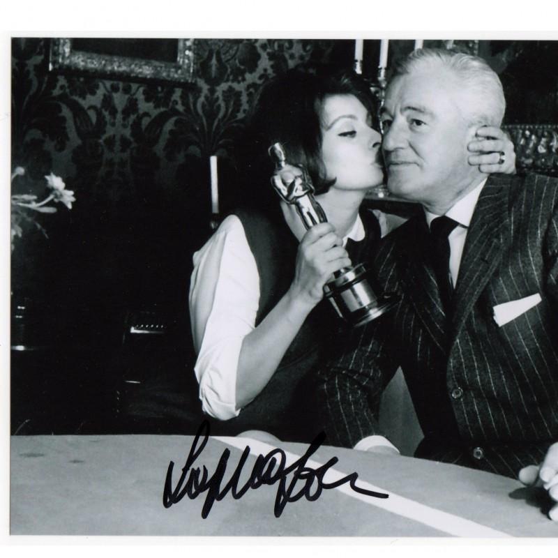 Sophia Lauren and Vittorio De Sica signed picture