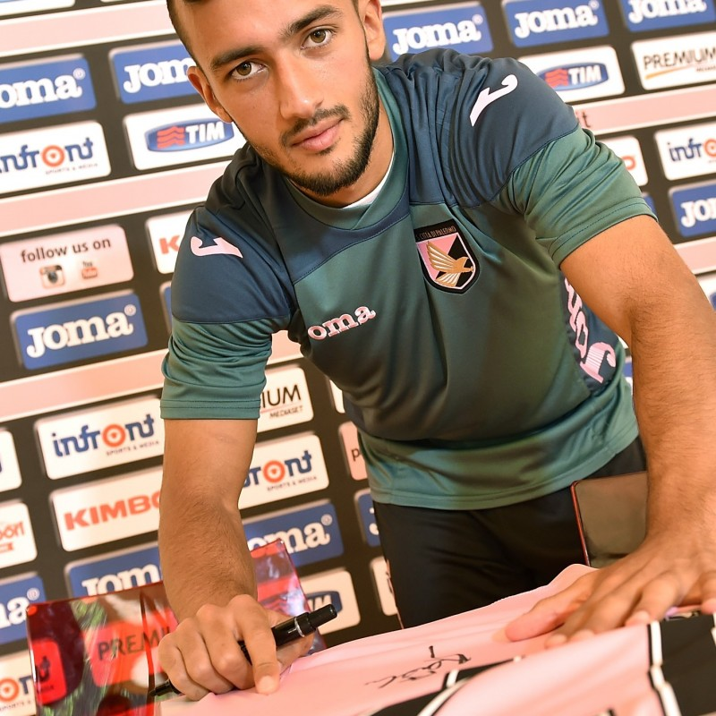 Palermo shirt celebrating new player Benali - signed