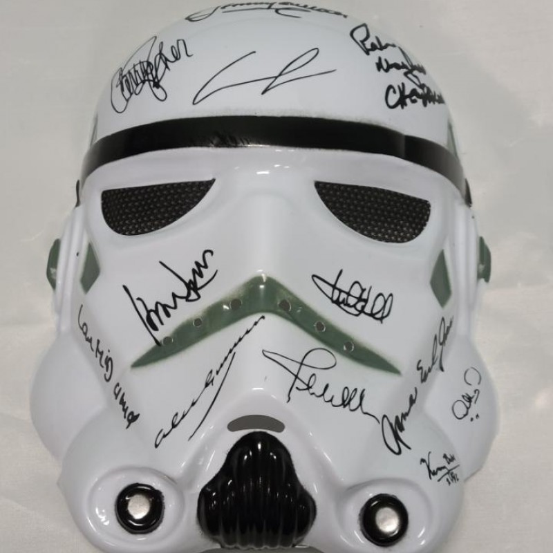 Star Wars Storm Trooper Mask with Printed Signatures