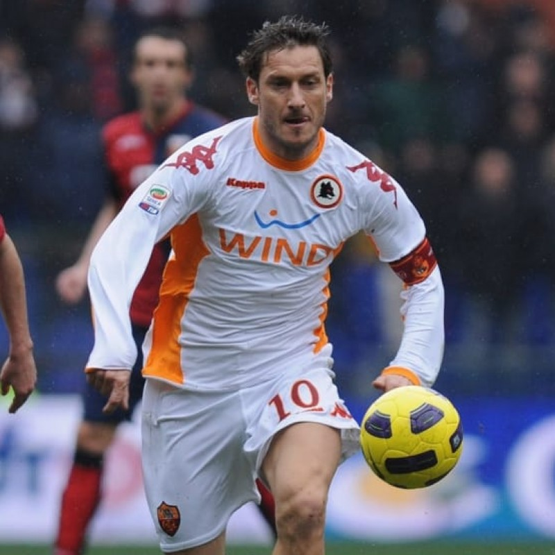 Totti's Roma Match Signed Shirt, 2010/11