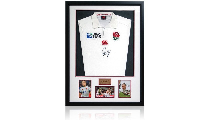Mike Brown Hand Signed England Rugby Jersey