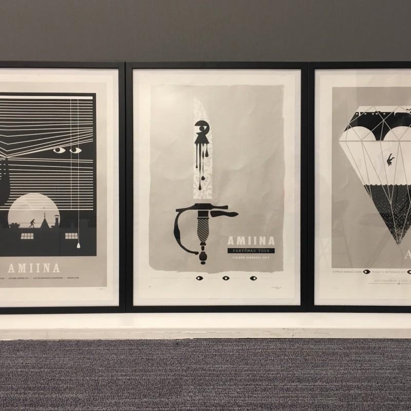3 Framed Black & White Prints by Craig Carry