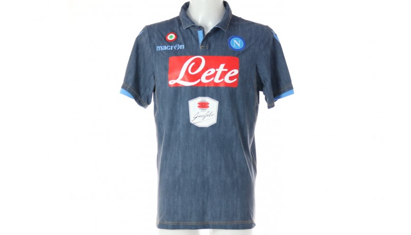 Higuain's Official Napoli Signed Shirt, 2014/15