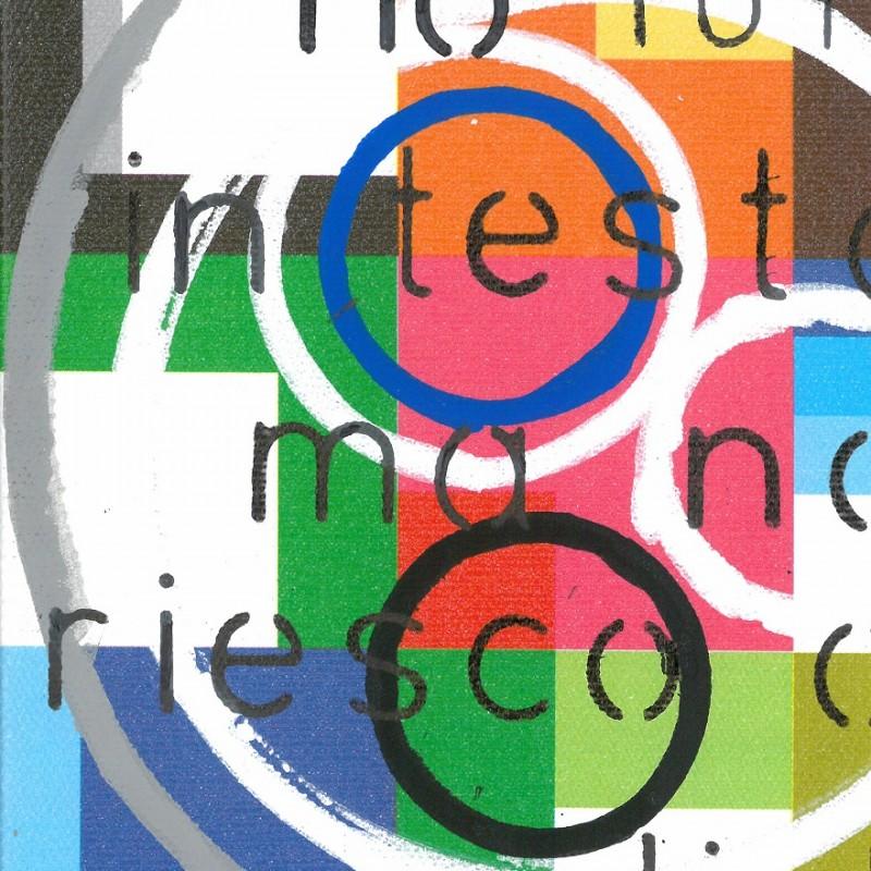 """""""Questo scontro tranquillo"""" - mixed media on canvas by Marco Randazzo - 15x15 cm"""