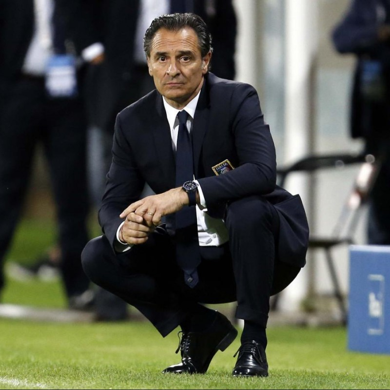 Italy National Football Team Suit Worn by Cesare Prandelli
