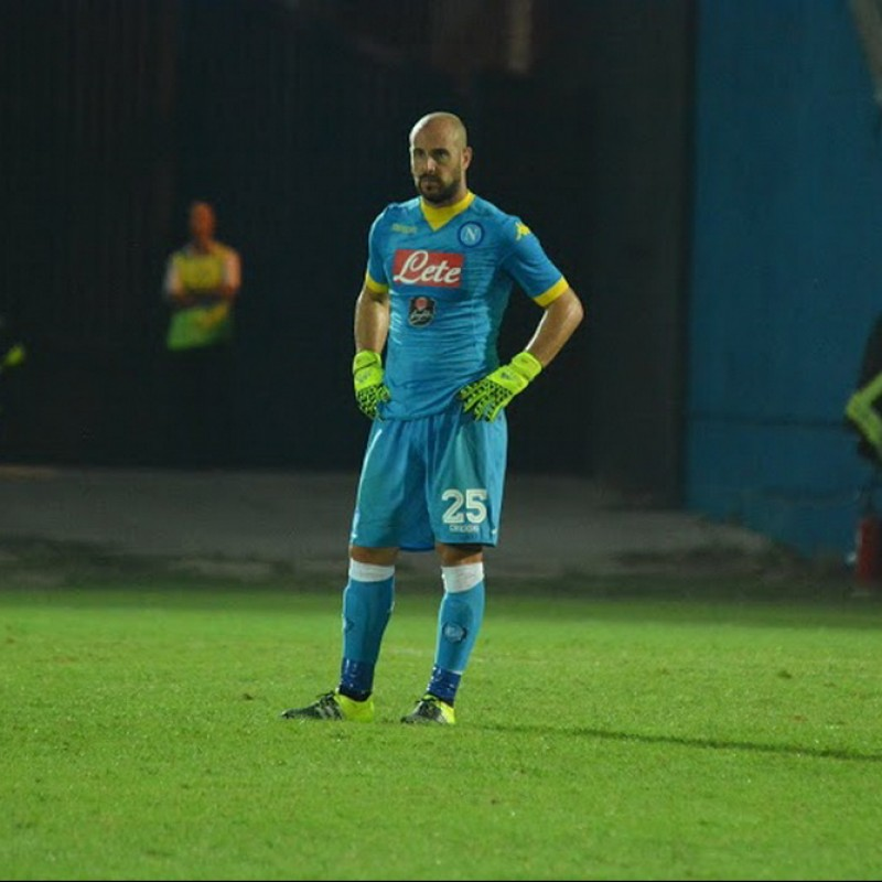 Reina's Match-Issued and Signed Shirt, Latina-Napoli 2015