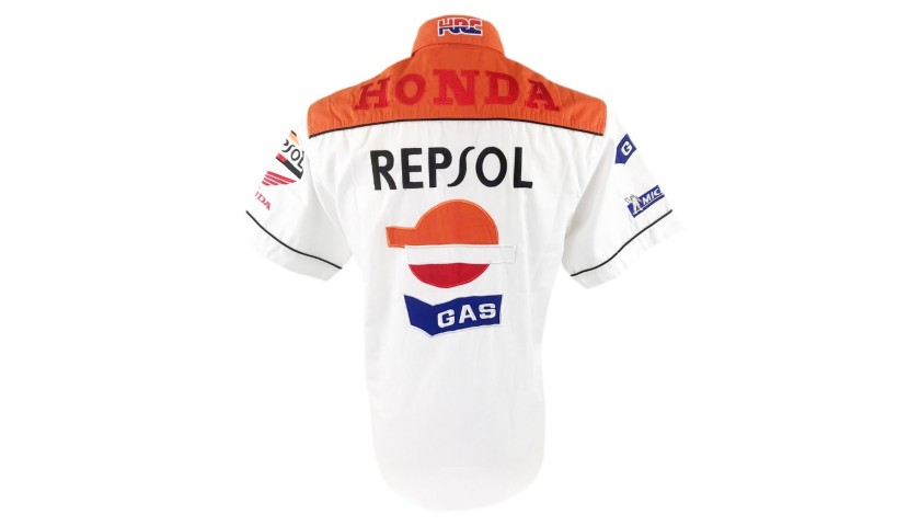 Official Honda Polo Shirt - Signed by Marc Marquez