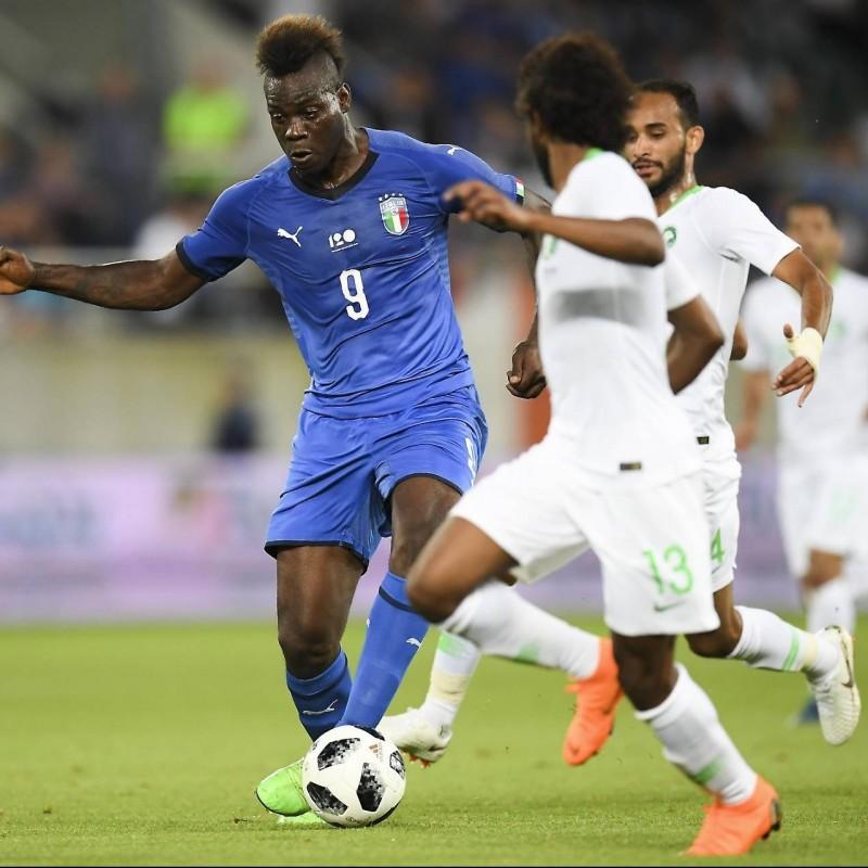 Balotelli's Match-Issue/Worn Italy-Saudi Arabia Shirt