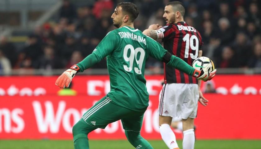 b16c0b1eeb04f5 Maglia Donnarumma indossata Milan-Inter - Patch Speciale & Unwashed ...