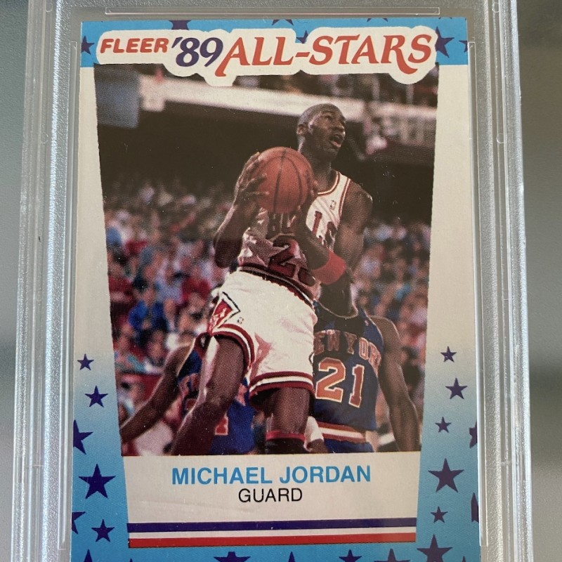 Michael Jordan Fleer Sticker Slabbed PSA 9