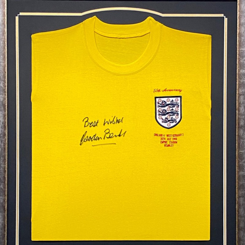 England 1966 World Cup Shirt, Signed By Sir Gordon Banks