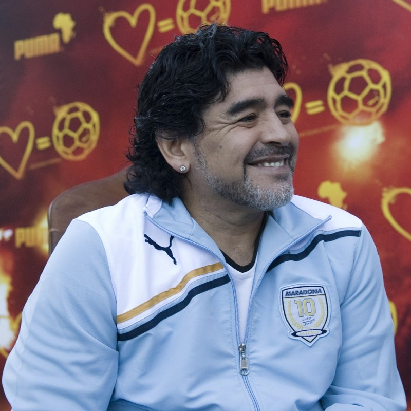 Puma jacket signed by Maradona