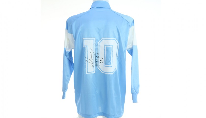 Maradona's Official Napoli 1990/91 Signed Shirt