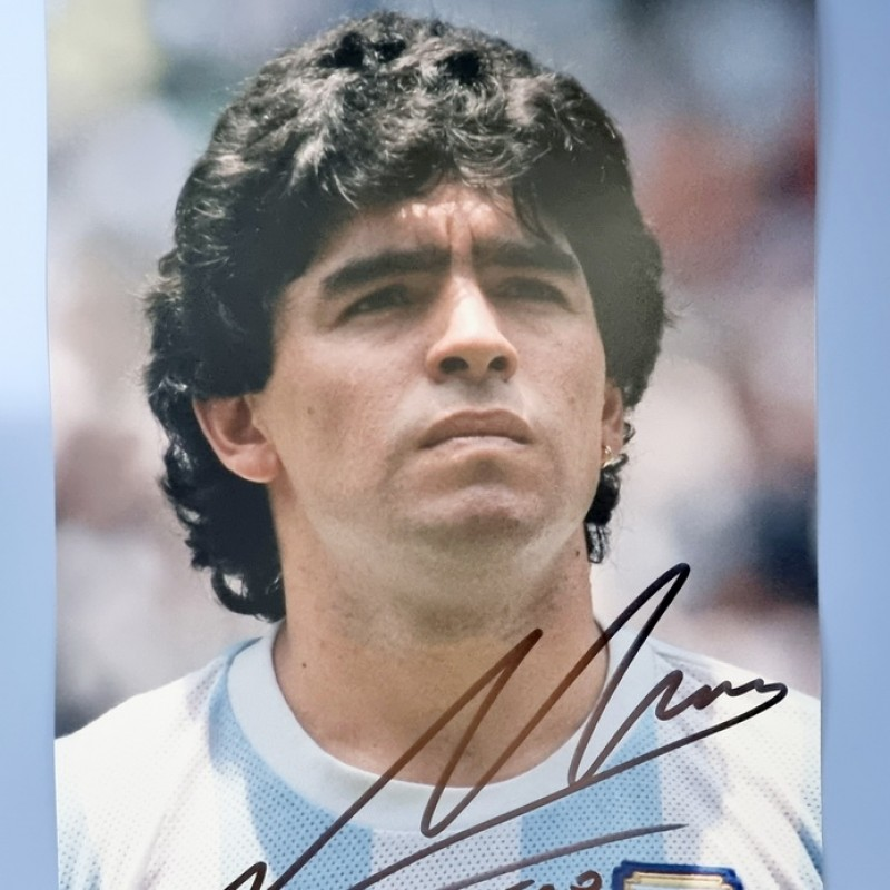 Maradona Signed Photograph