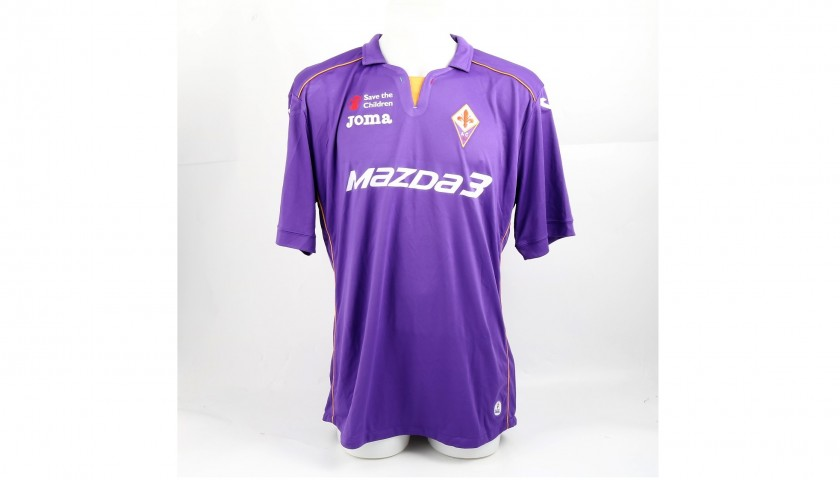 Official Ambrosini Fiorentina Shirt, 2013/14 - Signed