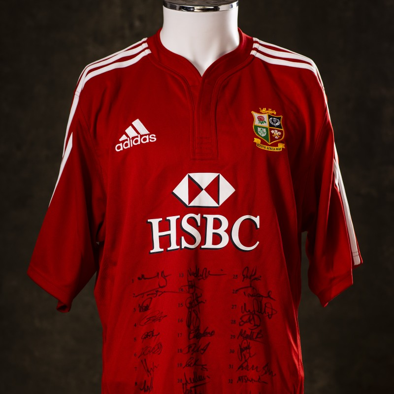 Lions 2009 Squad Signed & Numbered Shirt