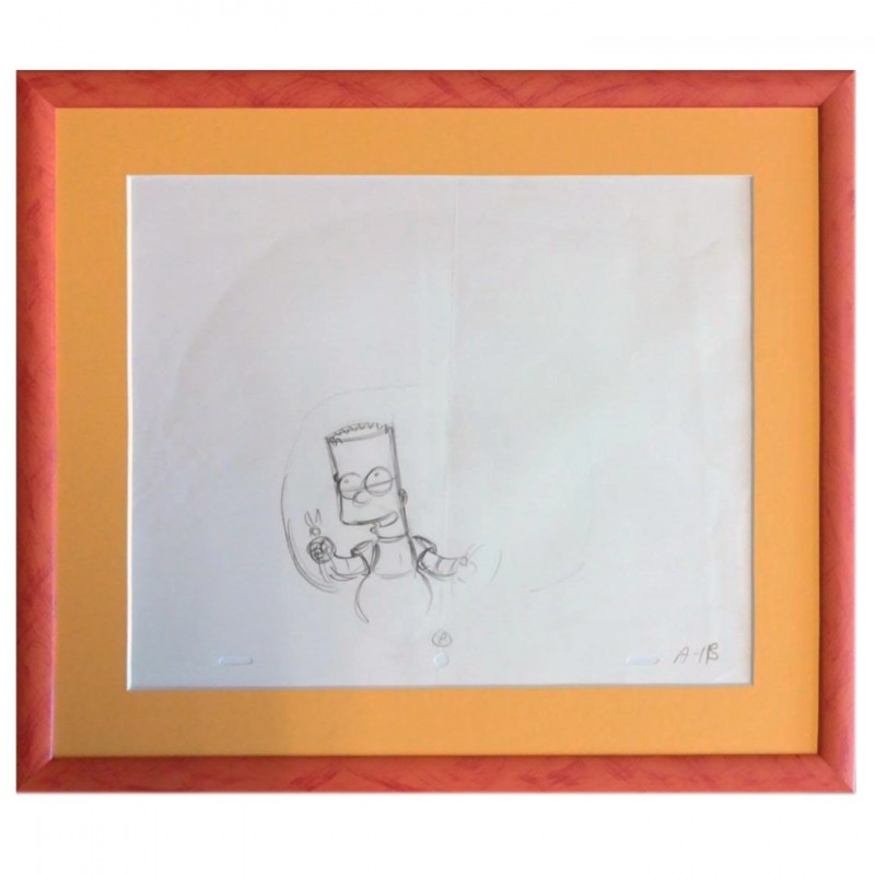 The Simpsons - Bart Simpson Original Drawing