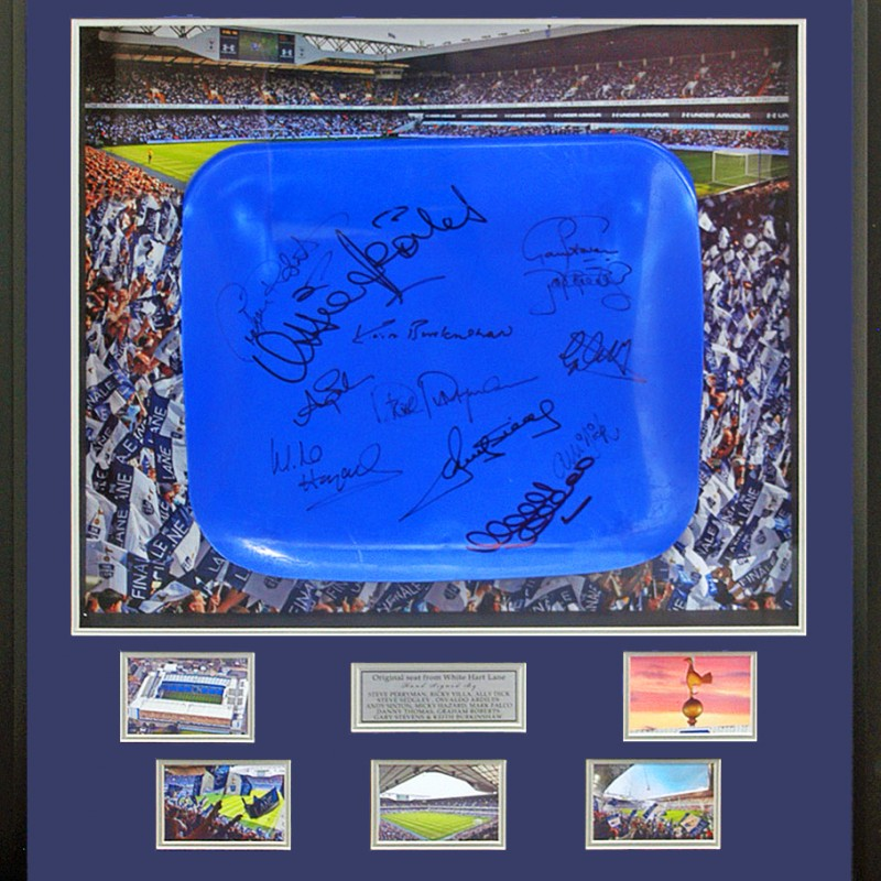 Seat From Tottenham Hotspur's White Hart Lane Stadium Hand Signed by 12