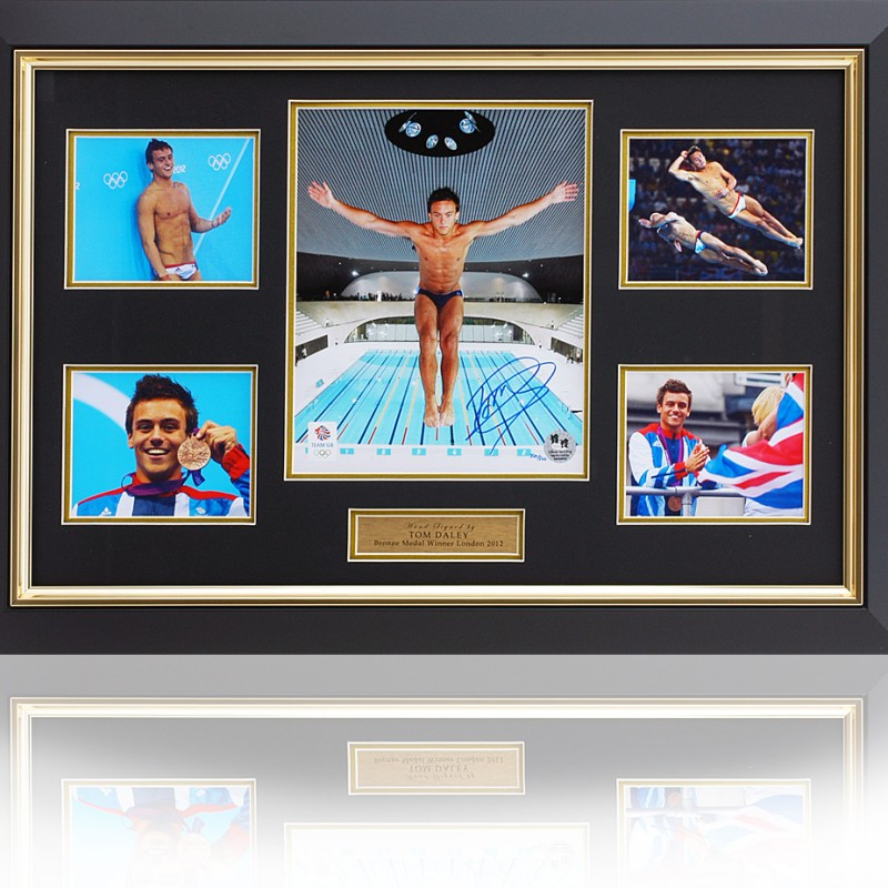 Tom Daley Signed Framed Presentation London 2012 Olympics