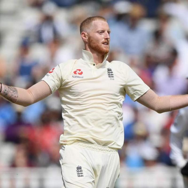 ECB 2018 Cricket Test Poppy Shirt Signed by Stokes