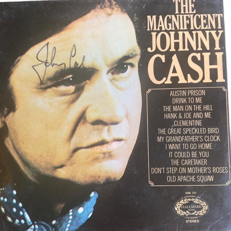 Johnny Cash Signed The Magnificent Johnny Cash Vinyl LP
