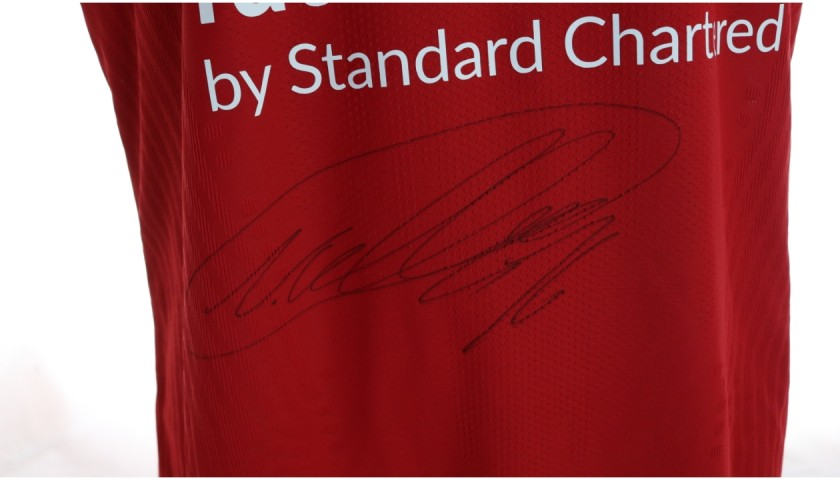 Neco Williams' Liverpool FC Match-Issued and Signed Shirt, Limited Edition 20/21