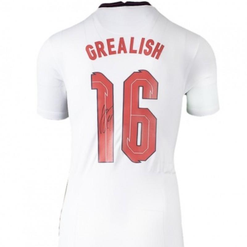 Grealish's England Signed Shirt, 2020-21