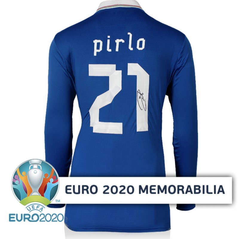 Pirlo's Italy Signed Shirt - Official UEFA EURO National Teams Legends