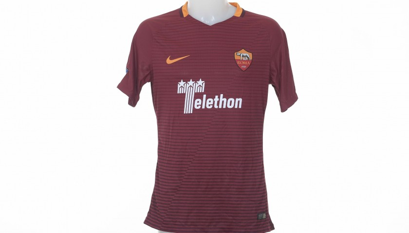 Perotti's Special Telethon Worn Shirt, Juve-Roma 2016