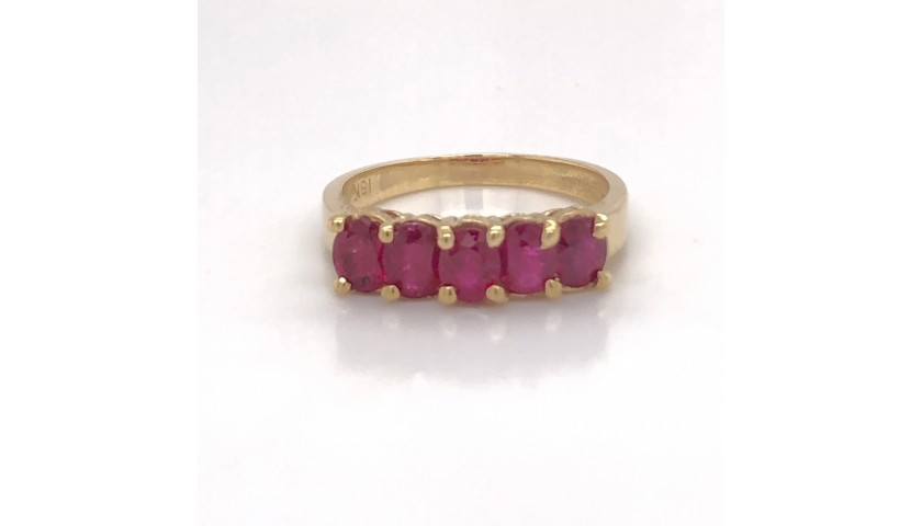 18KT Yellow Gold Ruby Ring