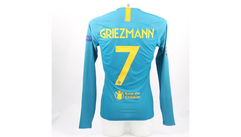 Griezmann's Atletico Match-Issue/Worn Shirt, 2018/19