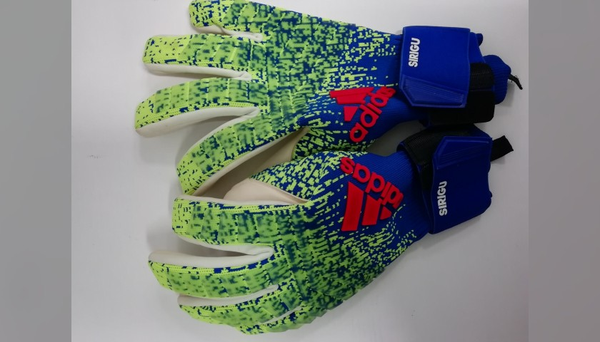 Sirigu's Match-Issue Signed Gloves, 2018/19