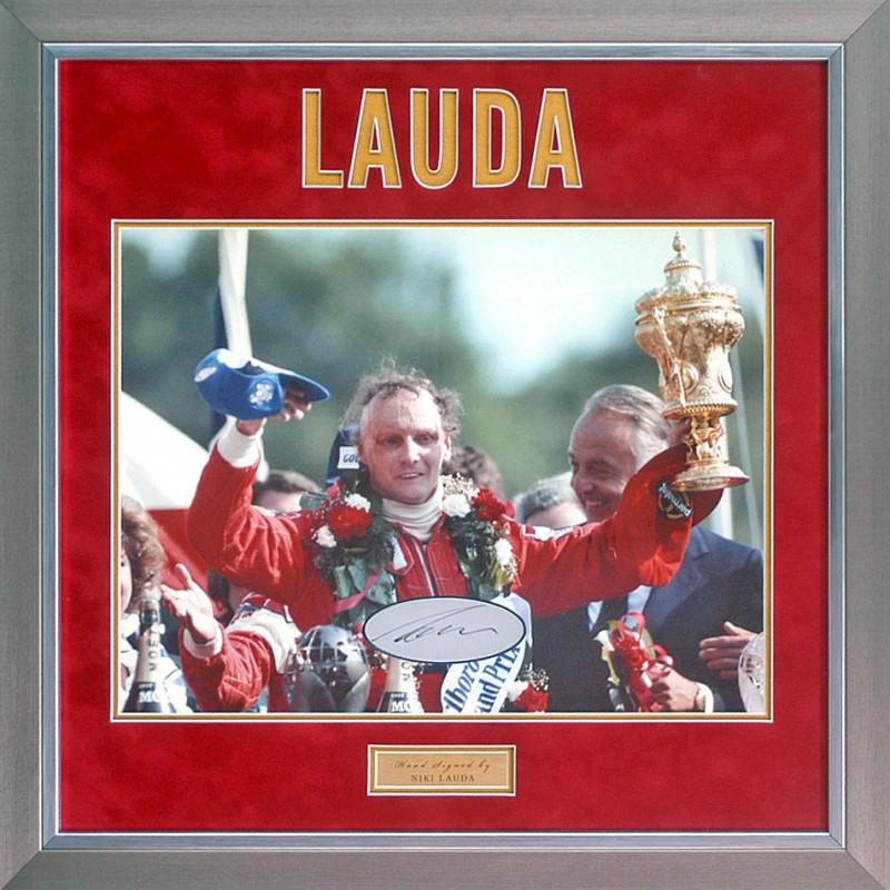 Niki Lauda Hand Signed Formula 1 Photo