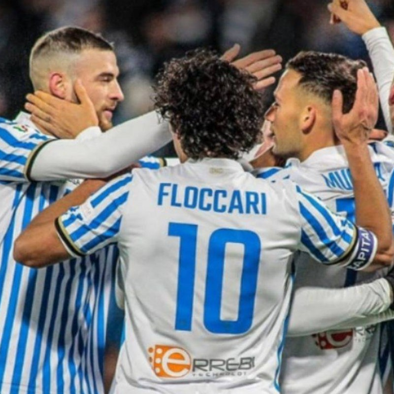 Floccari's Official Spal Signed Shirt, 2019/20
