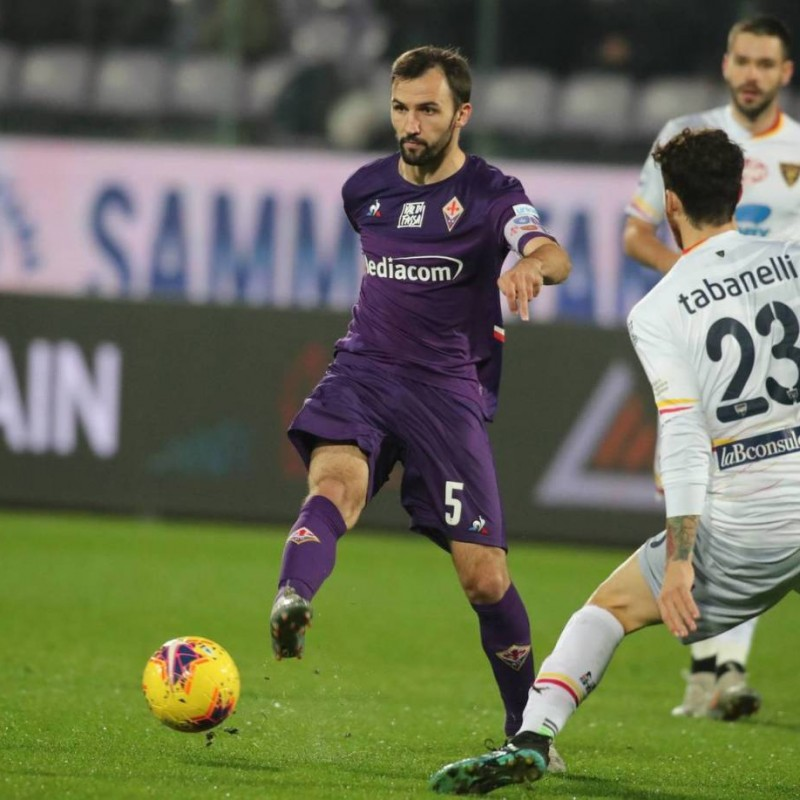 Badelj's Signed Shirt with Unicef Patch, Fiorentina-Lecce