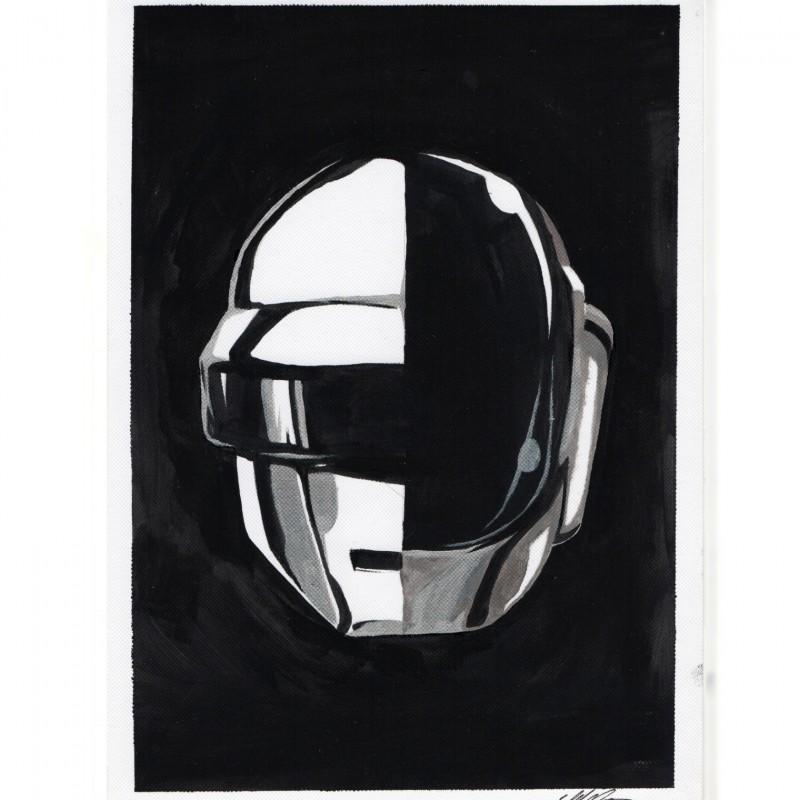 """""""Bye Daft"""" Daft Punk - Unique Artwork by Manuel Frattini"""
