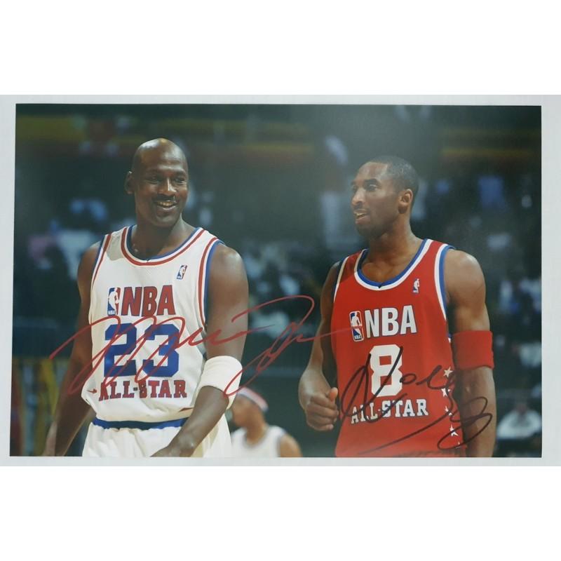 Photograph Signed by Michael Jordan and Kobe Bryant