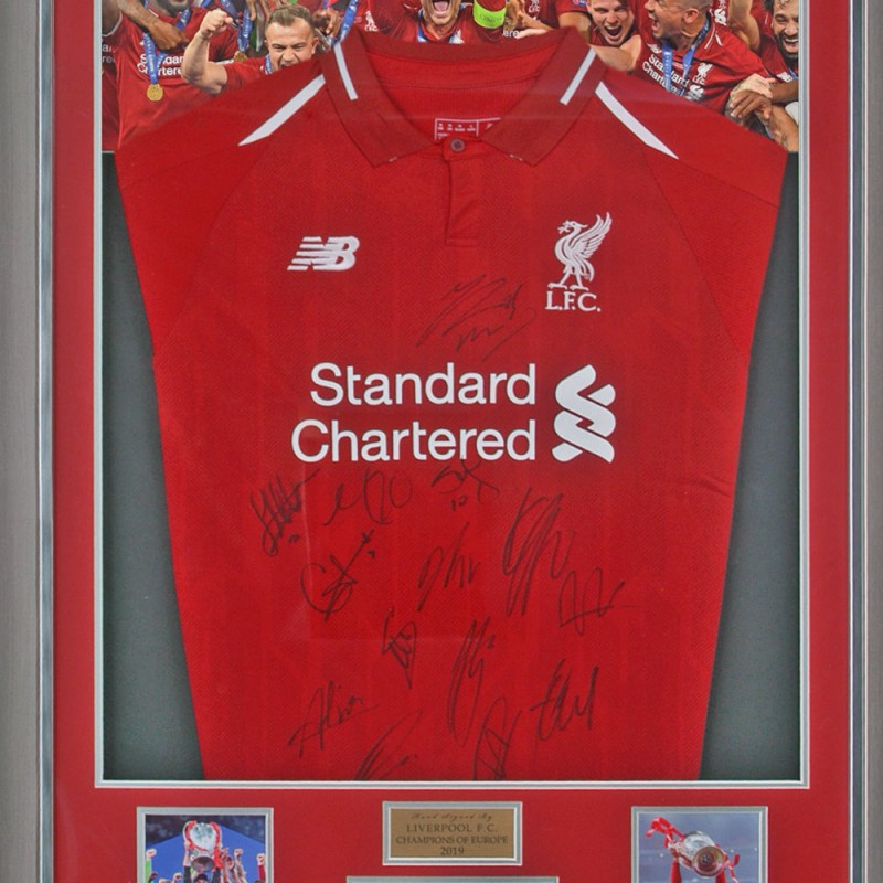 Liverpool Official Home Shirt Hand Signed By 14 Players