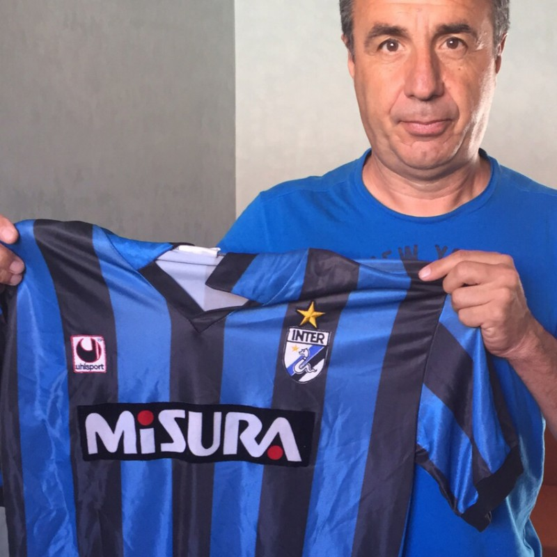 Baresi Inter shirt, worn Udinese-Inter 21/6/89