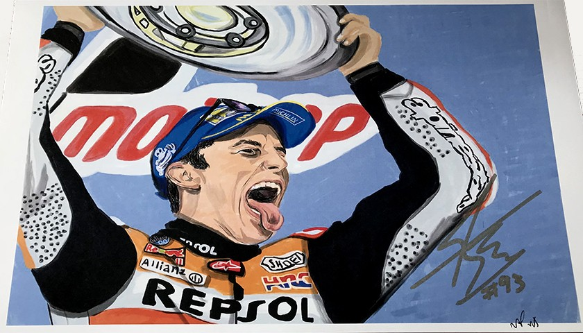 """Marc Marquez: Race 16, Phillip Island"" by Tammy Gorali"